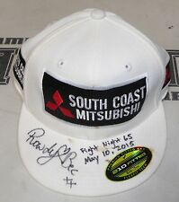 Rowdy Bec Rawlings Signed Corner Worn Used Fight Night 65 Hat w/ Blood PSA/DNA