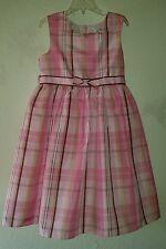 Adorable Girl's GOOD LAD of Philadelphia Size 6X Dress Sleeveless Pinkish Plaid