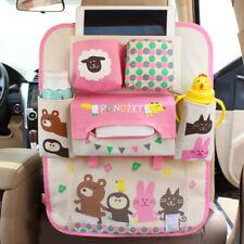 Car Back Seat Organiser Tablet iPad Holder Protector Tidy Bottle Girls Pink