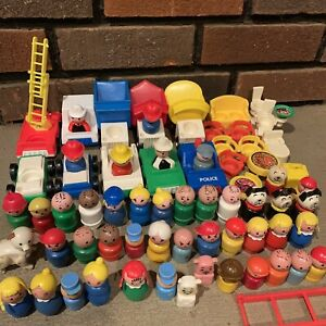 Vintage Fisher-Price Little People - Figures Vehicles & Accessory Lot