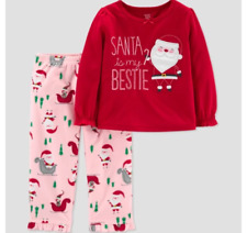 18M Baby Girls' Santa's Bestie 2pc Pajama Set - Just One You by Carter's Red NWT