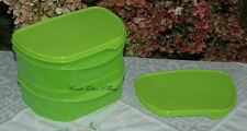 TUPPERWARE HALF FRIDGE STACKABLE STACKABLES   LIME GREEN SET