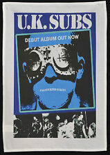 UK SUBS TEA TOWEL ANOTHER KIND OF BLUES PUNK ROCK 1977 WALL HANGING POSTER