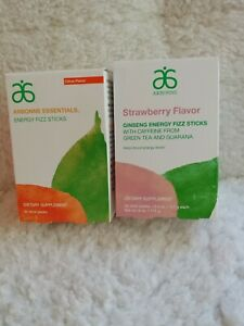 Arbonne Essentials Energy Fizz Sticks Pomegranate,Strawberry