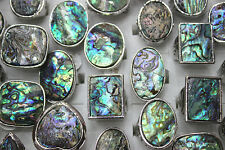 Wholesale jewelry mixed Lots 35pcs Abalone Shell Vintage Style lady's ring EH211