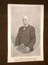 Avvocato Alessandro Bianchi Nato in Assisi 1830 Assassinato a Perugia nel 1905