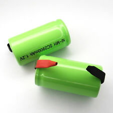 12 Sub C SubC With Tab 2900mAh Ni-MH rechargeable Battery cell pack Green