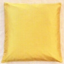 """24"""" Dupion Silk Cushion Cover Solid Color Pillow Case Throw Mustard Yellow"""