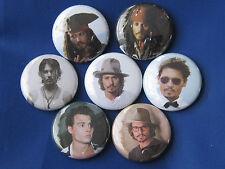 Johnny Depp 7 pins buttons badges new  Pinbacks Buttons