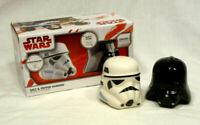 Star Wars Ceramic Salt & Pepper Shaker Set - Stormtrooper & Darth Vader - NIB