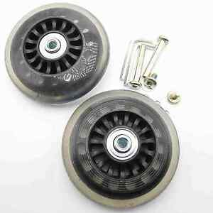 2 Set Luggage Suitcase Replacement Wheels Axles Deluxe Repair OD 86mm Roll new