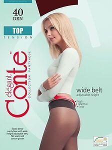 Conte TIGHTS Top 40 den | Low Waist Adjustable Belt Hipster Pantyhose