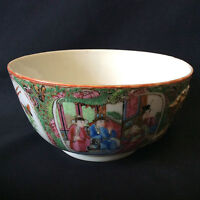 Chine bol porcelaine Canton Qing famille rose XVIIIe XIXe China Asie Asia