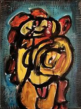 Modernist ABSTRACT Modern Painting FIGURE Expressionist ART TWISTED MUTHER FOLTZ