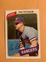 #22 Pat Putnam Texas Rangers,,1980 Topps Baseball Card Cb20