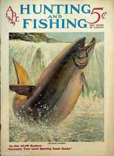 Vintage Hunting & Fishing Magazine April 1929 A Great Cover Sporting Jem155