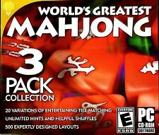World's Greatest Mahjong: 3 Pack Collection - PC Game - New