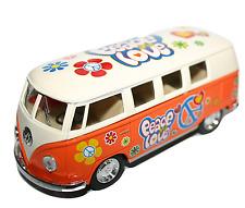 VOLKSWAGEN Camper Van Flower Power Hippy auto modello IN SCALA 1:32