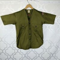 Vintage Boy Scouts of America Green Button Down Mens Sz S Women's Sz L San Franc