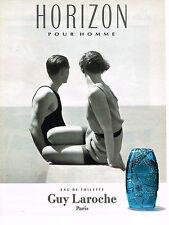 PUBLICITE ADVERTISING 074  1993  GUY LAROCHE  parfum homme HORIZON