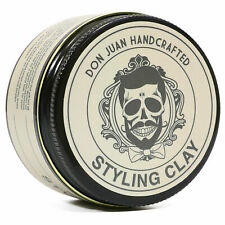 DON JUAN Handcrafted Styling Clay Medium Hold Pomade 4oz Free Comb NEW