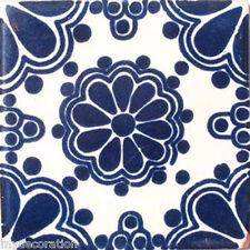 C#028) MEXICAN TILES CERAMIC HAND MADE SPANISH INFLUENCE TALAVERA MOSAIC ART