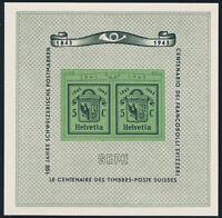 SCHWEIZ 1943, Block 10, tadellos postfrisch, Mi. 75,-