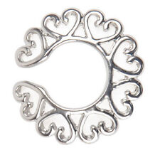 Sexy Charm Surgical Steel Non Piercing Clip On Heart Design Nipple Ring ShieldFF