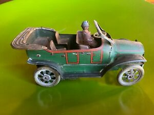 Antique 1910 German Obor Tin Toy Coupe; 6.5""