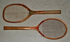 New listing LOT 2 Antique Vintage 1920 Tennis Rackets •• WLS & Red Throat