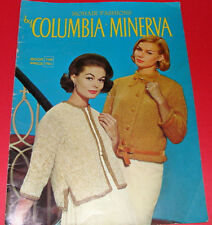 Mohair Fashions Columbia Minerva Knit Instruction Manual #748 sweaters coats 60s