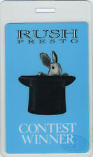 Rush 1990 Presto Laminated Backstage Pass blue