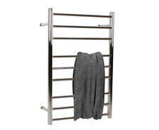 Electric Heated 9 Rungs Towel Rail Rack Stainless Steel Bar Bathroom Warmer BG