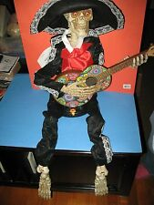 """GUITAR PLAYING SKELETON PLAYS LA BAMBA - HAND MOVES - 39"""" - BRAND NEW WITH TAG !"""