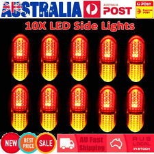 10x LED Side Marker Lights RED Yellow Indicator Trailer Truck Clearance 10-30V
