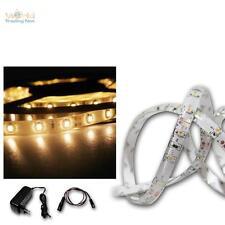 ( 9,4€/ m) LED BANDEAU LUMINEUX SET 5m blanc chaud + TRANSFORMATEUR smd-stripe