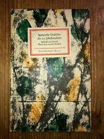 Spanische Gedichte des 20.Jahrhunderts  Insel Bücherei  IB 722
