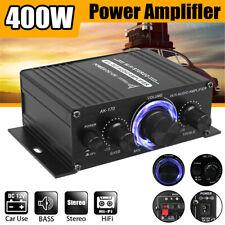 12V 400W Aluminium HiFi Audio Verstärker Auto Stereo Mini Power Amplifier 2CH