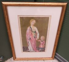 Framed Illuminated Style Print of St. Dorothy and the Christ Child F. di Giorgio