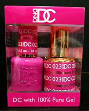DND DC Soak Off Gel Polish Blossom Orchid 023 LED/UV 6oz 18ml Gel Duo Set NEW