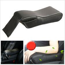 Universal Black Memory Foam PU Leather Car Center Console Armrest Box Mats Cover