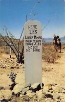 Tombstone Arizona~Boot Hill Graveyard~Grave of Lester Moore~1953 Postcard