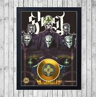 GHOST (1) CUADRO CON GOLD O PLATINUM CD EDICION LIMITADA. FRAMED