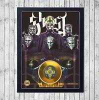 GHOST (1) CUADRO CON GOLD O PLATINUM CD EDICION LIMITADA. FRAMED