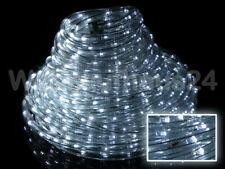 LED Lichterschlauch Lichtschlauch 2-50m kaltweiss weis mit 8 Blinkfunktionen