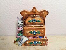Limoges Box ~ DRESSER & Bunny Rabbit ~ Peint main France RARE Vintage No. 3/500