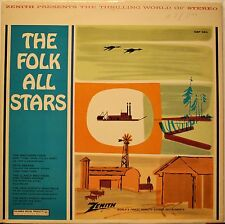 The Folk All Stars Various Artists LP Record CSP324 Marketed by Zenith Exc Cond