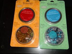 Gemology Jewelry Semi-Precious Stones Bead Kit - Lot of 2 Kits!