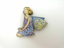 Flower FAIRIES el Forget Me Not Hadas Colorido De Broche Pin Flor Azul