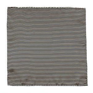 ITALO FERRETTI Handmade Tan Micro Striped Silk Pocket Square Handkerchief $150